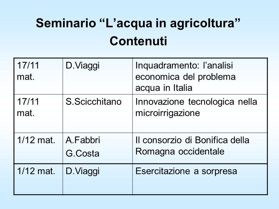 Seminario Lacqua in agricoltura Contenuti 17/11 mat.