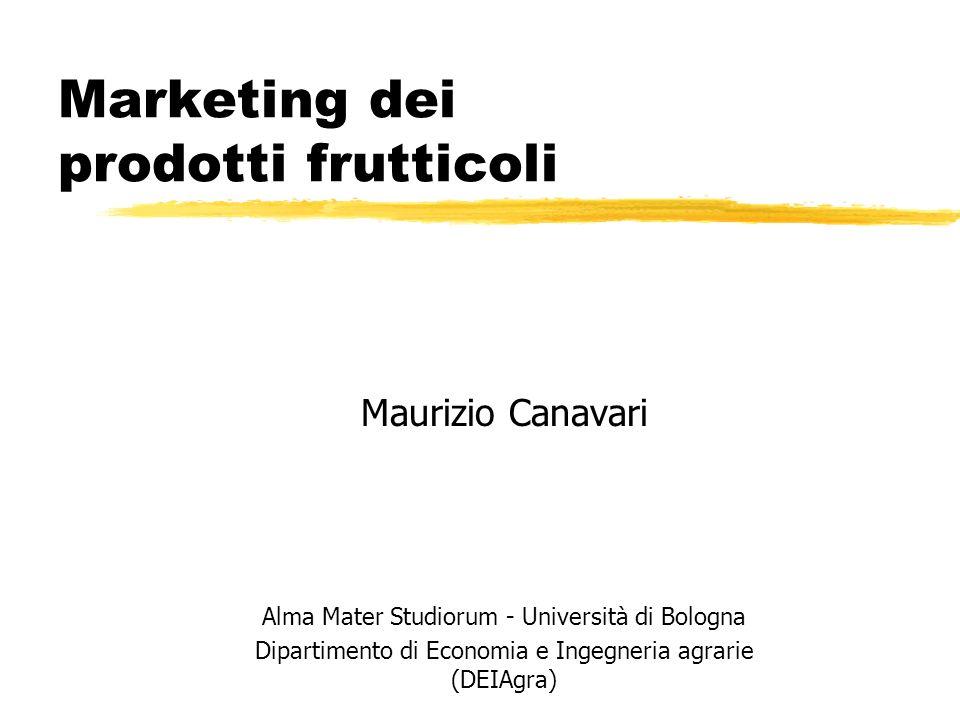 Marketing dei prodotti frutticoli Maurizio Canavari Alma Mater Studiorum - Università di Bologna Dipartimento di Economia e Ingegneria agrarie (DEIAgr