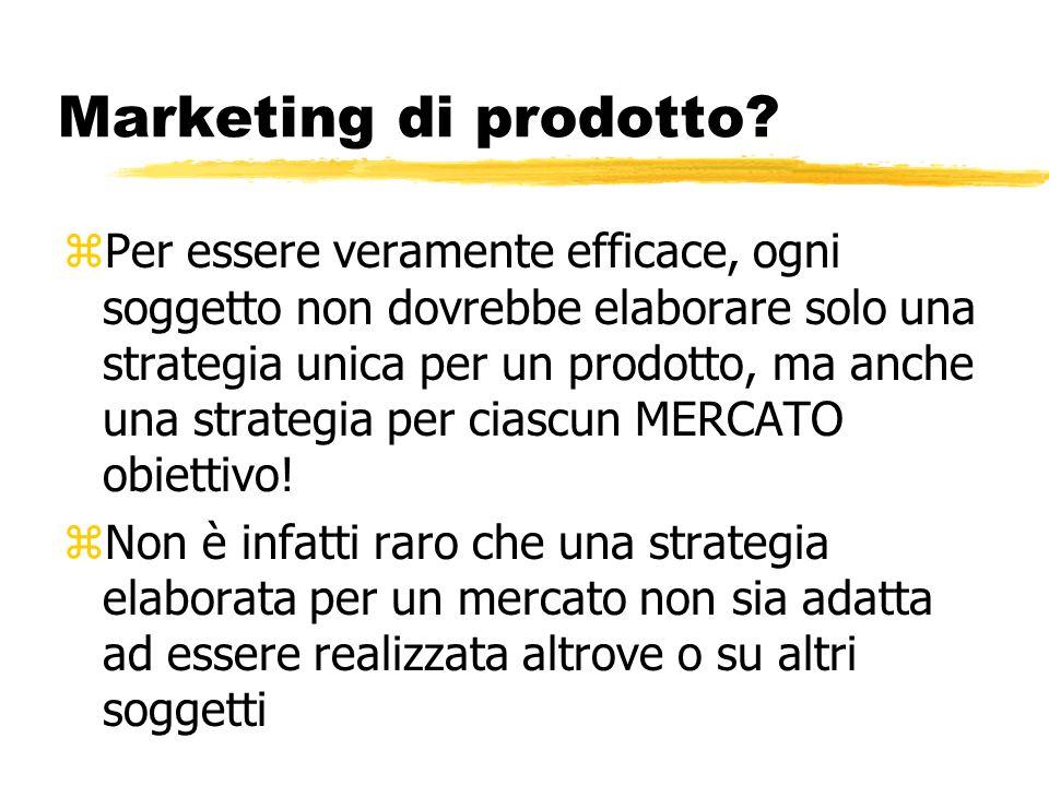 Marketing di prodotto? zPer essere veramente efficace, ogni soggetto non dovrebbe elaborare solo una strategia unica per un prodotto, ma anche una str