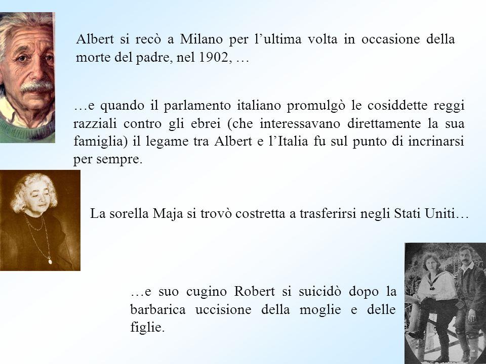 …e quando il parlamento italiano promulgò le cosiddette reggi razziali contro gli ebrei (che interessavano direttamente la sua famiglia) il legame tra Albert e lItalia fu sul punto di incrinarsi per sempre.