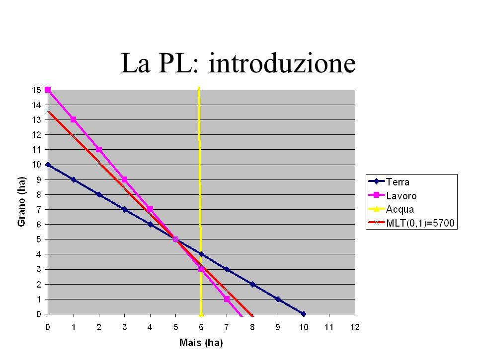 Dalla realtà ai modelli Tipologie di aziende omogenee: 1 tipologia=1modello Identificazione –coefficienti tecnici –disponibilità risorse –margine lordo Validazione –Distanza dalla realtà –Reazione alla parametrizzazione