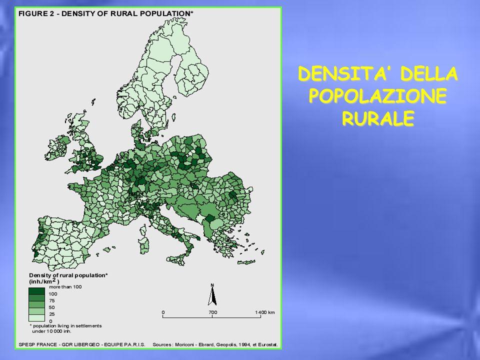 DENSITA DELLA POPOLAZIONE RURALE