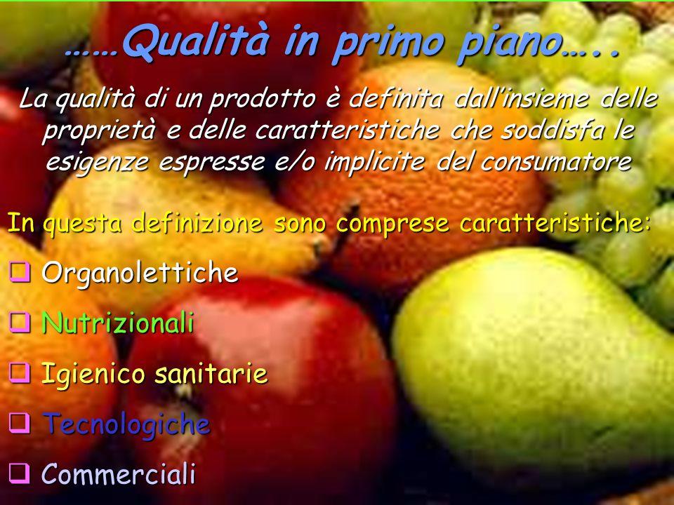……Qualità in primo piano….. La qualità di un prodotto è definita dallinsieme delle proprietà e delle caratteristiche che soddisfa le esigenze espresse