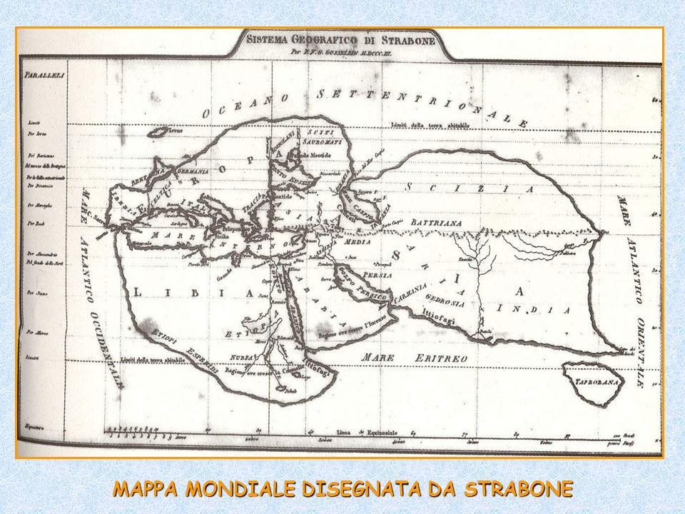 MAPPA MONDIALE DISEGNATA DA STRABONE