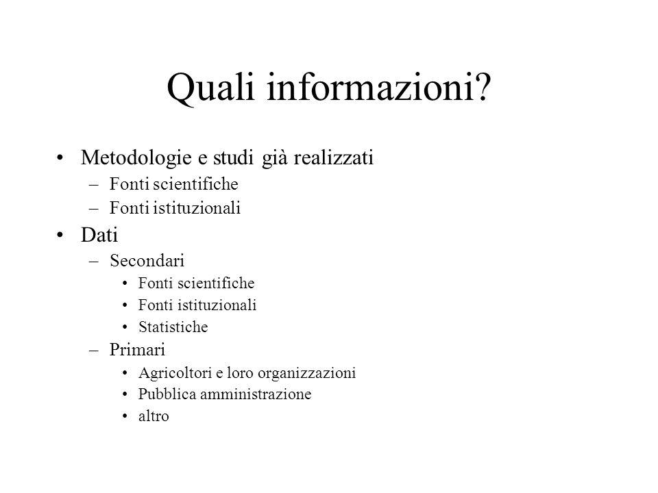 Quali informazioni.