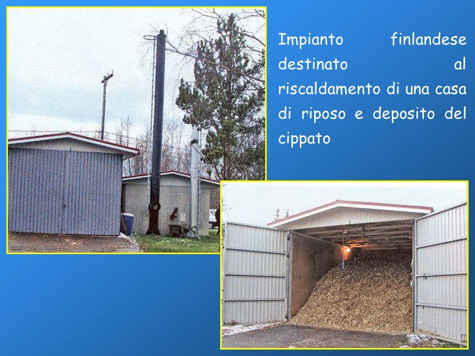 Impianto finlandese destinato al riscaldamento di una casa di riposo e deposito del cippato