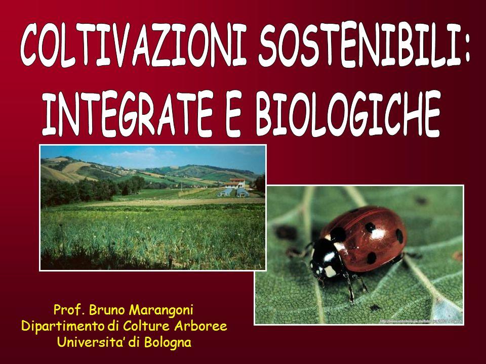 SISTEMI FRUTTICOLI CONVENZIONALIINTEGRATI BIOLOGICI (Reg.