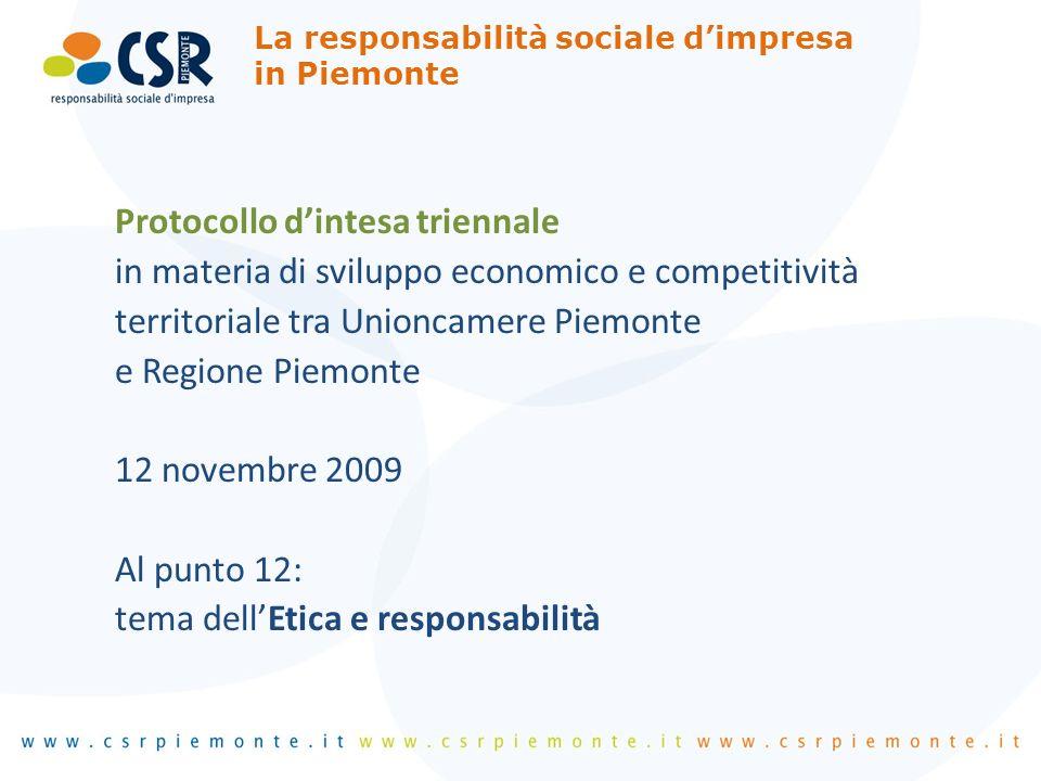 I principali risultati Ricerca sulladozione di pratiche CSR nelle imprese piemontesi I principali risultati Ricerca sulladozione di pratiche CSR nelle imprese piemontesi