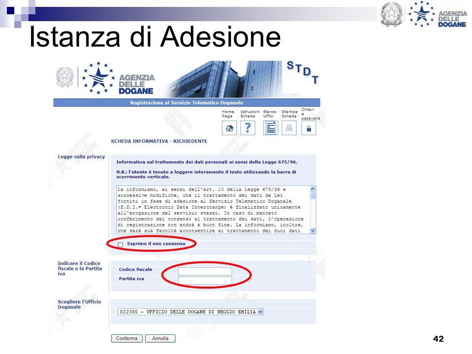 42 Istanza di Adesione