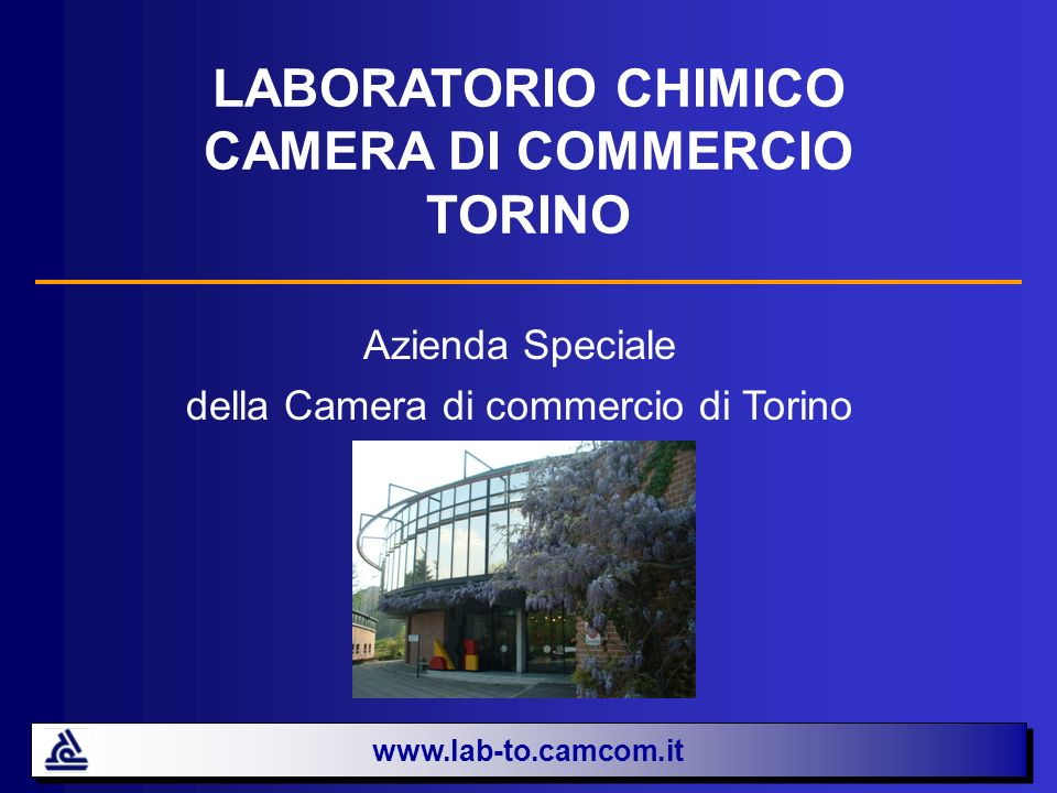 LABORATORIO CHIMICO CAMERA DI COMMERCIO TORINO Azienda Speciale della Camera di commercio di Torino www.lab-to.camcom.it