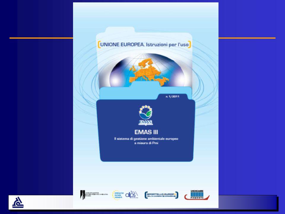 Situazione registrazioni EMAS (Italia) 804 1050 1211 Dic-07Dic-08Dic-09Dic-06 598 Per settori principali Pubbl.