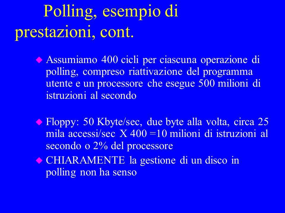 Polling, esempio di prestazioni, cont.
