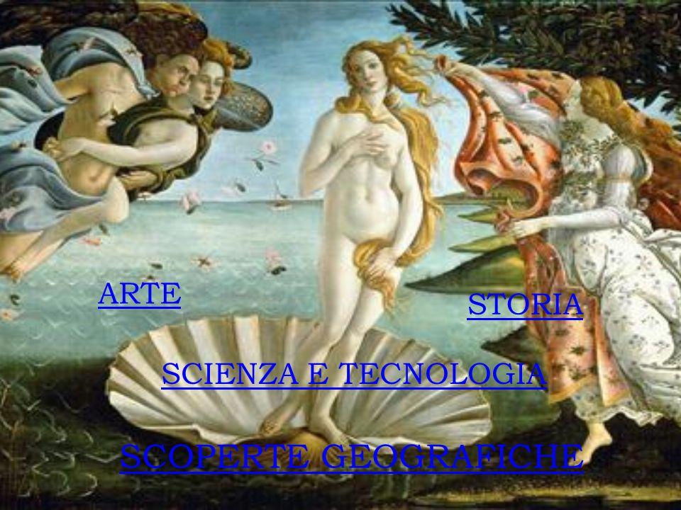 STORIA ARTE SCOPERTE GEOGRAFICHE SCIENZA E TECNOLOGIA