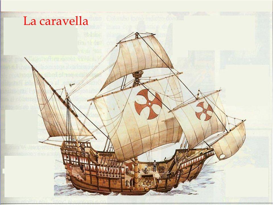 Ma le scoperte geografiche sono incentivate anche dagli ideali del RINASCIMENTO e dal miglioramento delle navi La caravella