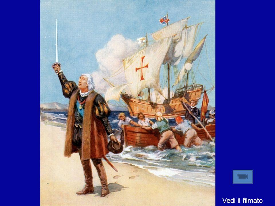 Il 12 Ottobre 1492 tocca terra, ma non è sbarcato in Asia: egli è giunto in un nuovo continente. Lequivoco verrà chiarito da Amerigo Vespucci. In segu