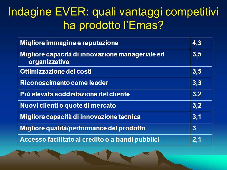 Indagine EVER: quali vantaggi competitivi ha prodotto lEmas.