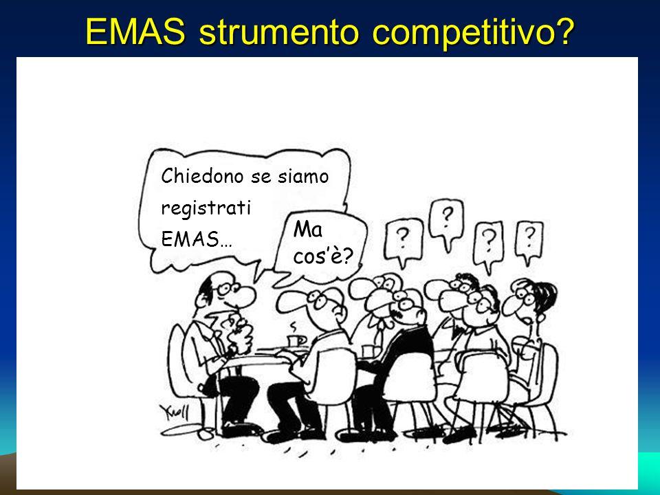 EMAS strumento competitivo Chiedono se siamo registrati EMAS… Ma cosè