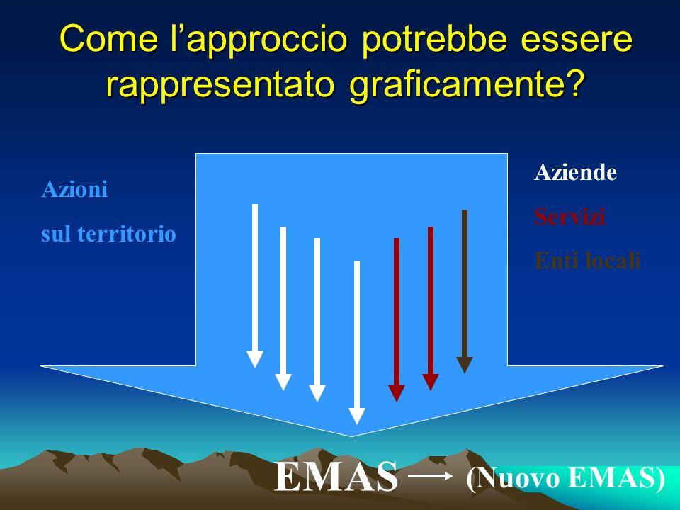 Come lapproccio potrebbe essere rappresentato graficamente? EMAS Azioni sul territorio Aziende Servizi Enti locali (Nuovo EMAS)