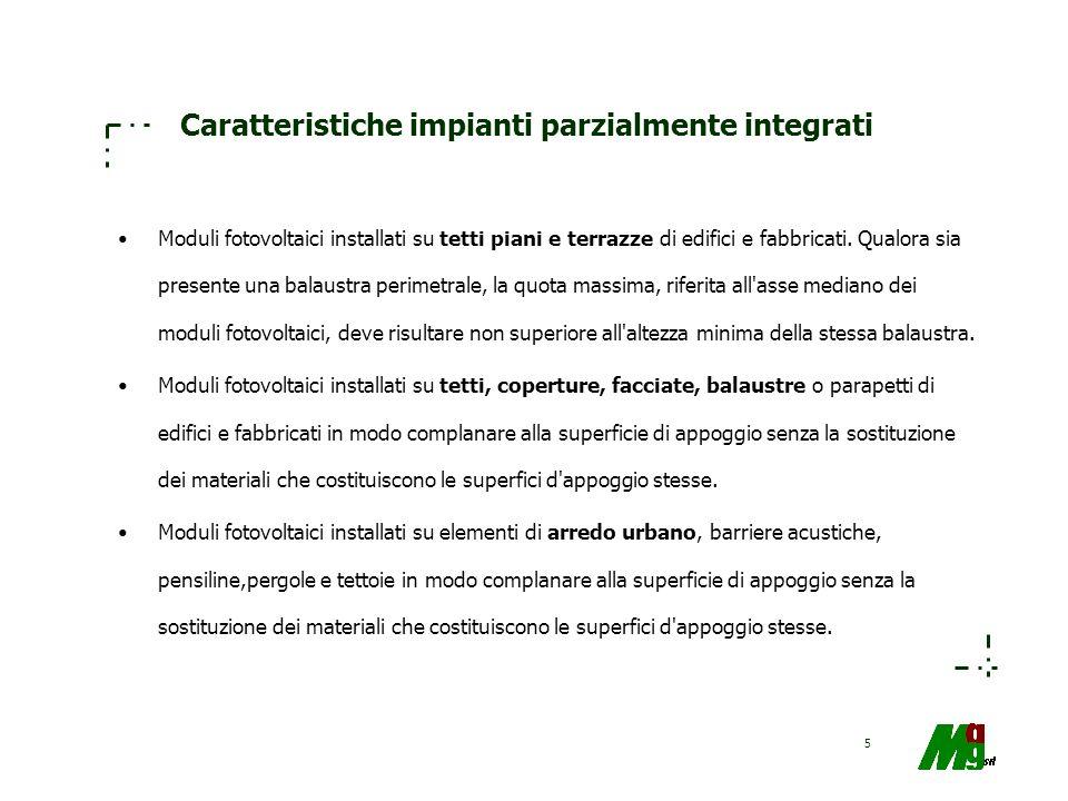 56 Aree di intervento ad alto potenziale innovativo (1) a1) solare fotovoltaico: –1.