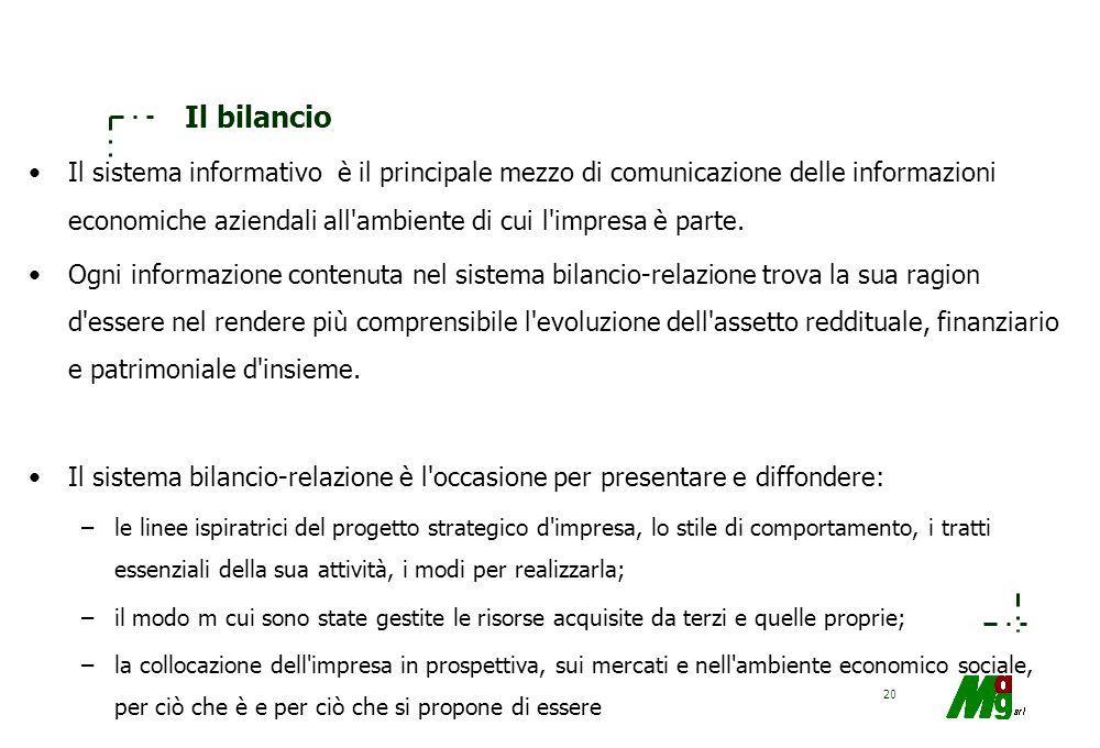 19 Il modello del bilancio e l'analisi economico-finanziaria Obiettivi conoscitivi: –comprendere la validità del modello come strumento di misurazione