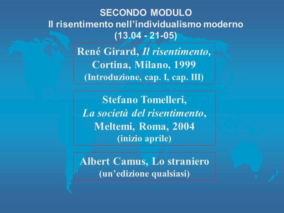 René Girard, Il risentimento, Cortina, Milano, 1999 (Introduzione, cap.