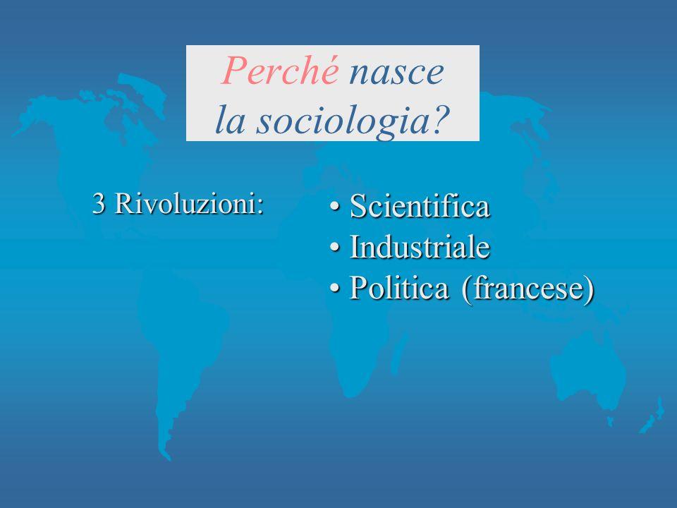 Perché nasce la sociologia.
