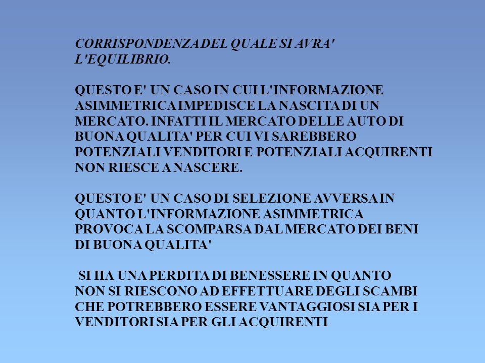 UN CASO DI COMPORTAMENTO SLEALE: L ASSICURAZIONE CONTRO GLI INCENDI IL COMPORTAMENTO SLEALE (AZIONE NASCOSTA) E QUELLO DELL ASSICURATO CHE RIDUCE LE MISURE DI PREVENZIONE CONTRO L INCENDIO DOPO AVERE STIPULATO UN CONTRATTO CON LA COMPAGNIA DI ASSICURAZIONE IL FALLIMENTO DEL MERCATO CONSISTE NEL FATTO CHE NON VERRANNO PRESE LE MISURE DI PREVENZIONE SOCIALMENTE OTTIMALI IN QUANTO L ASSICURATO NON CONSIDERA IL DANNO SOCIALE DELL INCENDIO MA SOLO Il SUO DANNO PRIVATO