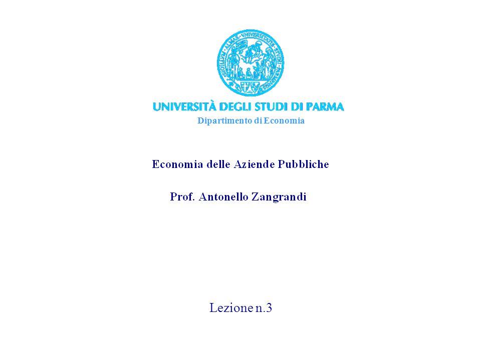 Dipartimento di Economia Lezione n.3