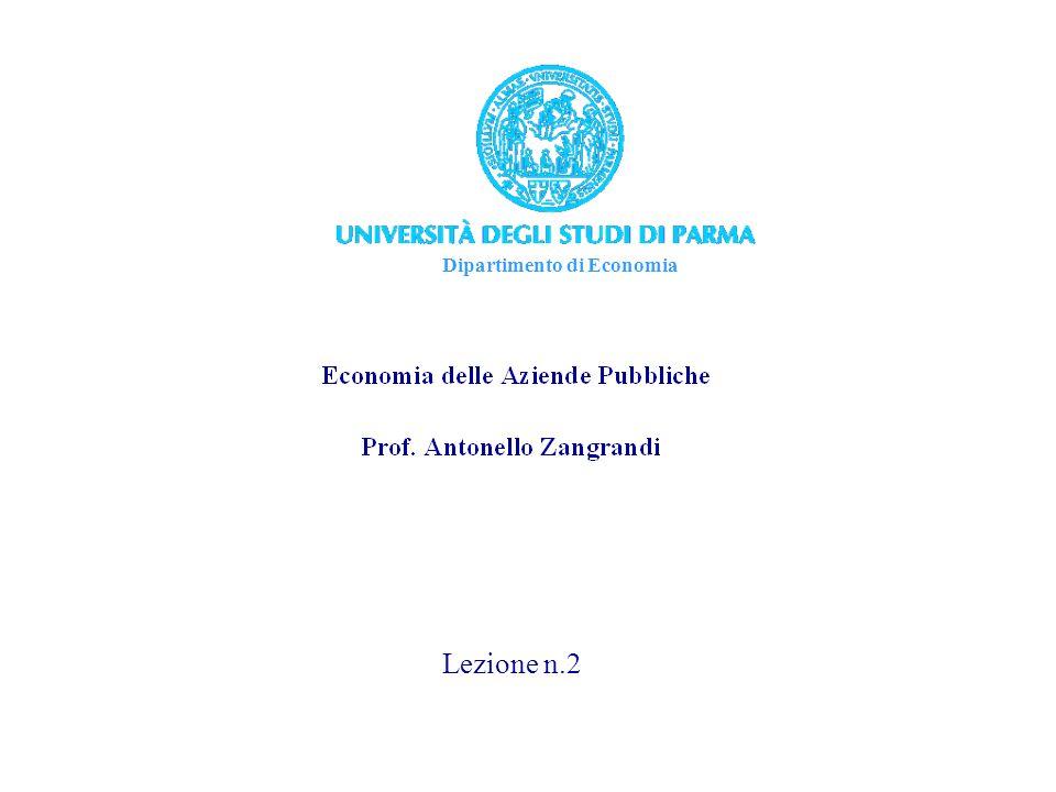 Dipartimento di Economia Lezione n.2