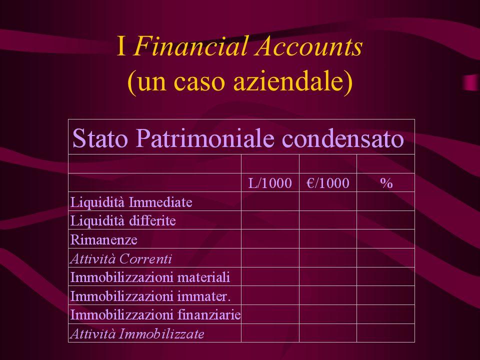 I Financial Accounts (un caso aziendale)