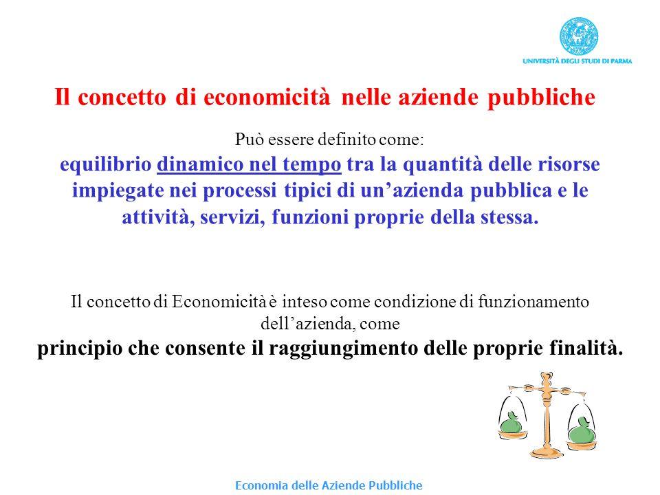 Economia delle Aziende Pubbliche Vincoli al raggiungimento delleconomicità alle limitazioni territoriali del bacino di utenza; alle funzioni e al coordinamento istituzionale; ai processi di garanzia istituzionale.