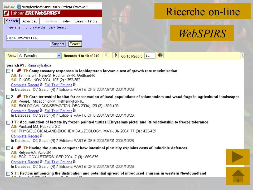 Ricerche on-line ScienceDirect