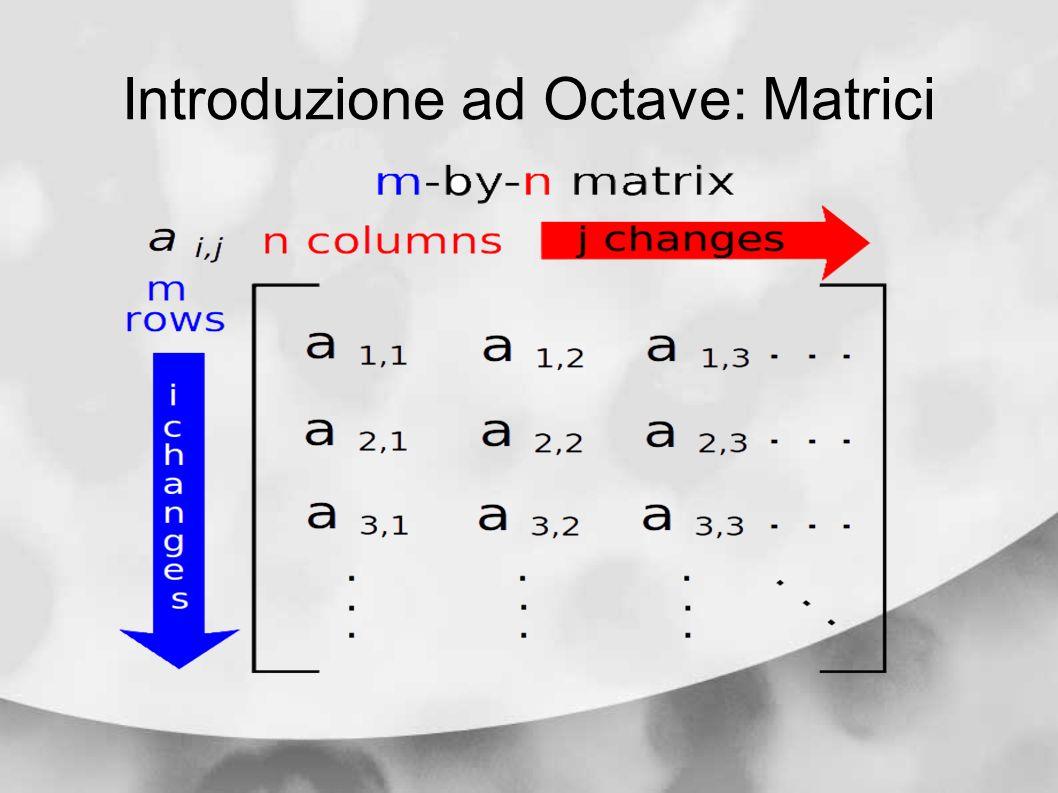 Introduzione ad Octave: Matrici