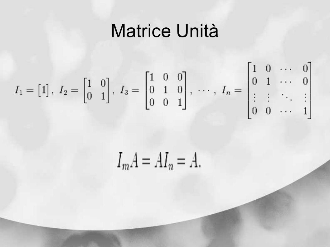 Matrice Unità
