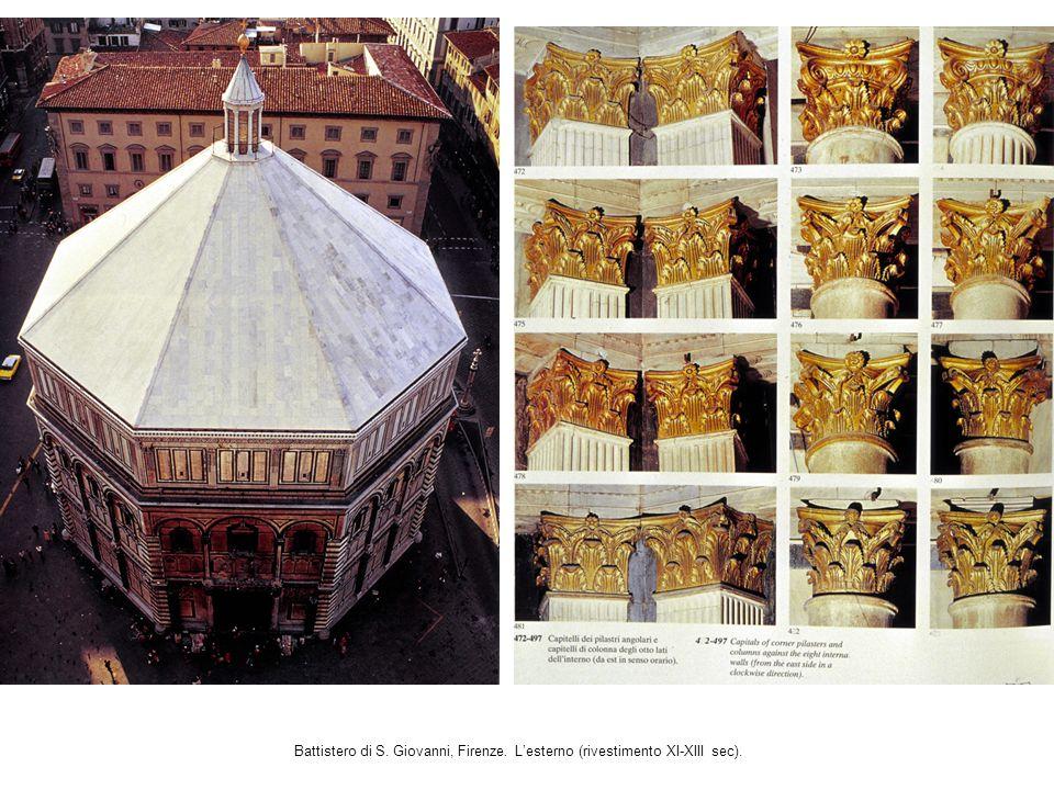 Battistero di S. Giovanni, Firenze. Lesterno (rivestimento XI-XIII sec).