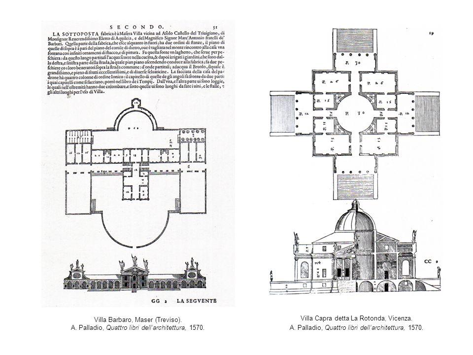 Villa Barbaro, Maser (Treviso). A. Palladio, Quattro libri dellarchitettura, 1570. Villa Capra detta La Rotonda, Vicenza. A. Palladio, Quattro libri d