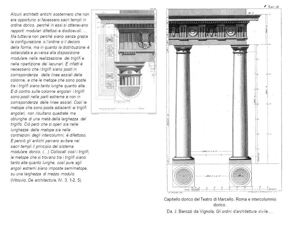 Capitello dorico del Teatro di Marcello, Roma e intercolumnio dorico.