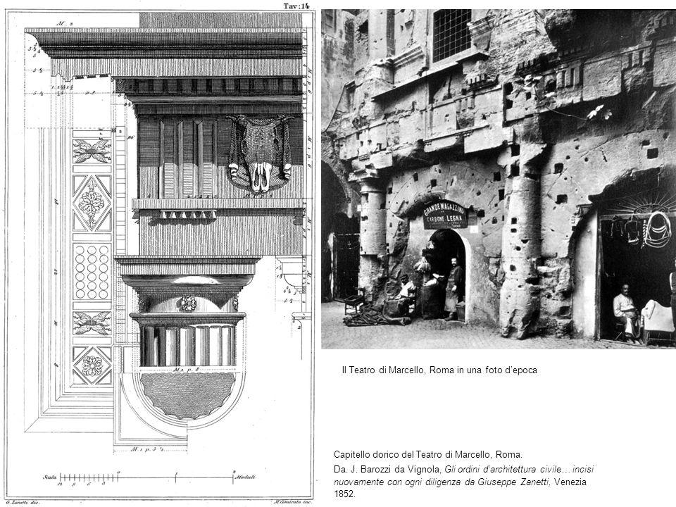 Capitello dorico del Teatro di Marcello, Roma.Da.