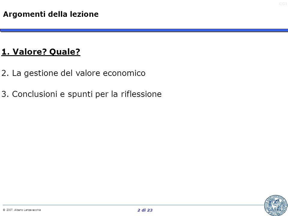 CG1 © 2007, Alberto Lanzavecchia 1 di 23 Materiale didattico di supporto Allegato Extra Profitti (Articolo su IrTop) Allegato Extra Profitti (Articolo