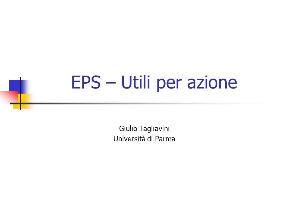 EPS – Utili per azione Giulio Tagliavini Università di Parma