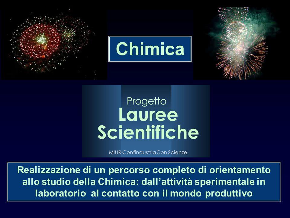 Realizzazione di un percorso completo di orientamento allo studio della Chimica: dallattività sperimentale in laboratorio al contatto con il mondo pro