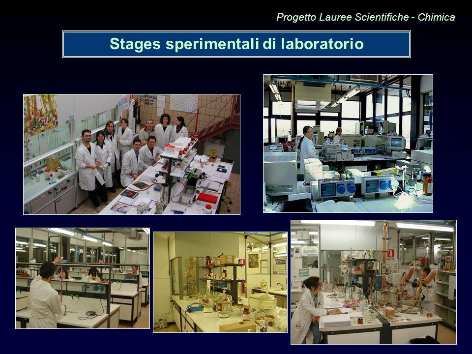 Stages sperimentali di laboratorio Progetto Lauree Scientifiche - Chimica