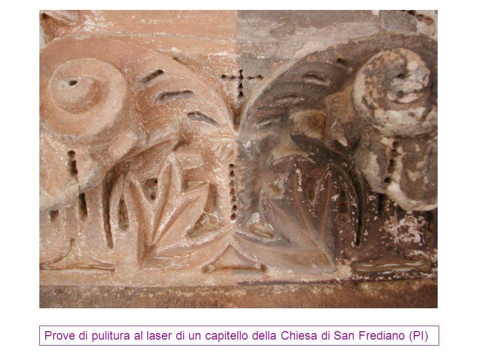 Prove di pulitura al laser di un capitello della Chiesa di San Frediano (PI)