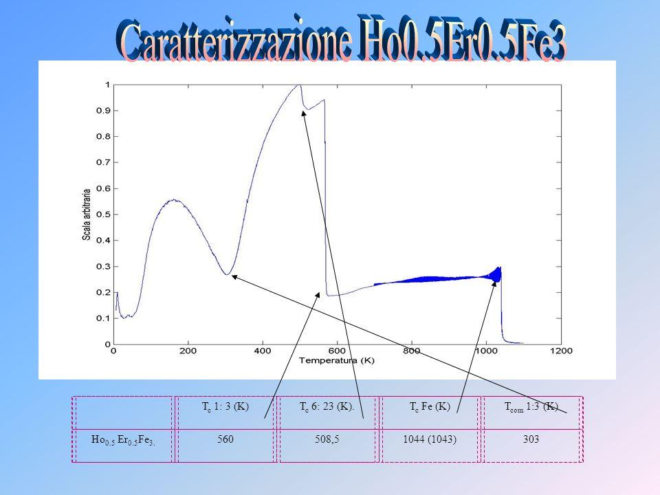 T c 1: 3 (K)T c 6: 23 (K).T c Fe (K)T com 1:3 (K) Ho 0.5 Er 0.5 Fe 3. 560508,51044 (1043)303