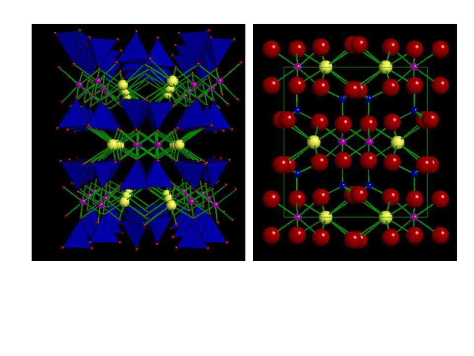 Le regole di Pauling (non nellordine), solidi ionici Il rapporto R catione /R anione determina la cordinazione La somma delle cariche degli anioni compensa quelle dei cationi (valore generale: predizione formula; valore locale, più complicato) I poliedri cercano di mettere in comune il meno possibile (a maggior ragione più è alta la carica del catione e più è bassa la coordinazione) Non sono verità assolute: dettato dalla necessità di ridurre lentalpia, ma… G = H - TS + PV