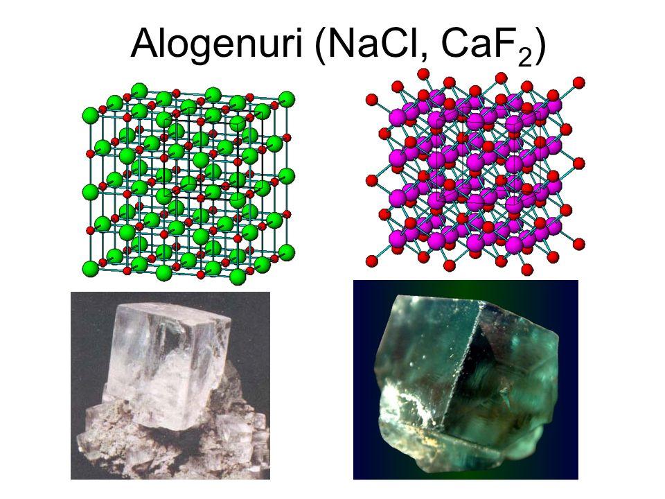Alogenuri (NaCl, CaF 2 )