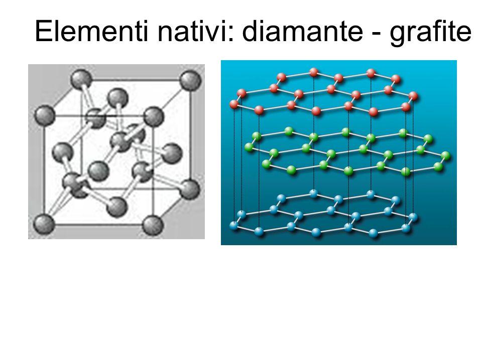 Elementi nativi: diamante - grafite
