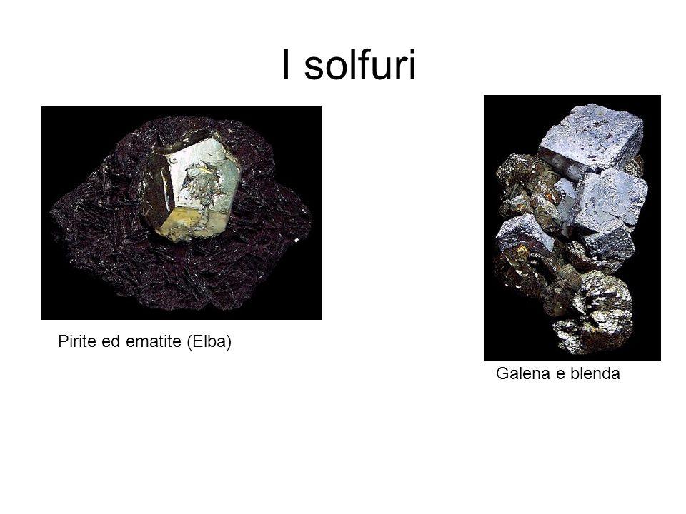 I solfuri Galena e blenda Pirite ed ematite (Elba)