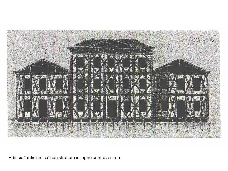 Edificio antisismico con struttura in legno controventata