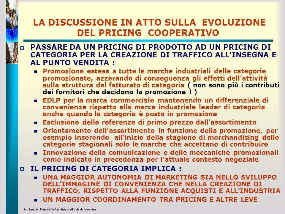G. Lugli Università degli Studi di Parma LA DISCUSSIONE IN ATTO SULLA EVOLUZIONE DEL PRICING COOPERATIVO PASSARE DA UN PRICING DI PRODOTTO AD UN PRICI